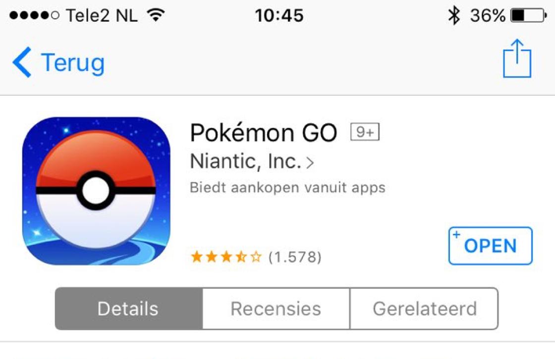 Pokemon GO overstappen