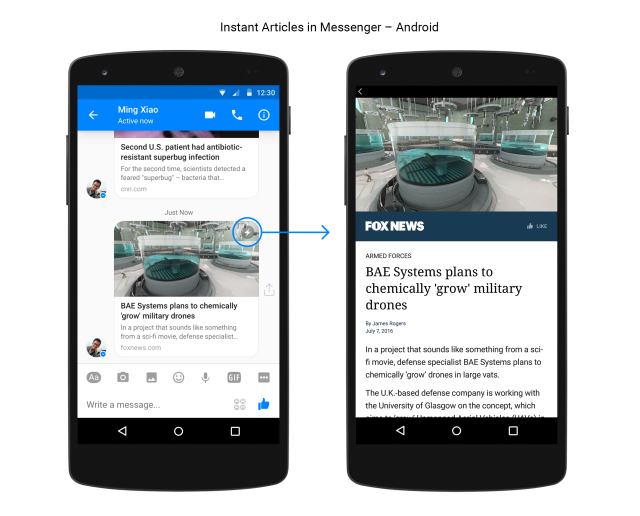 Messenger Instant Articles