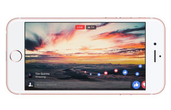 Facebook Live update biedt streams in volledig scherm