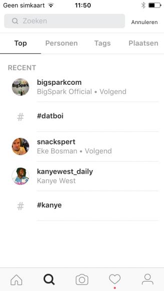 Instagram zoekgeschiedenis wissen