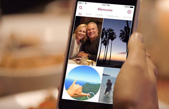 Snapchat Herinneringen maakt je oude Snaps doorzoekbaar