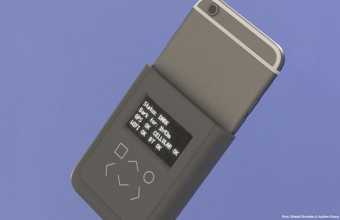 Snowden ontwerpt case om iPhone-signalen te blokkeren