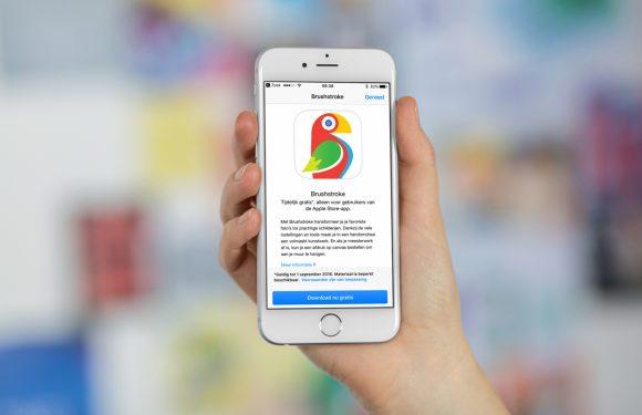 Zo download je foto-app Brushstroke gratis via de Apple Store-app