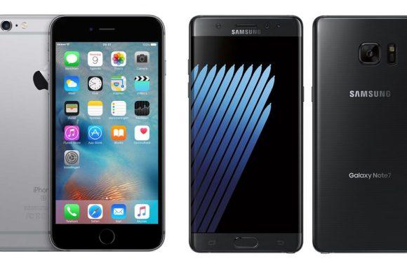iPhone 6S Plus vs Galaxy Note 7: smartphonegiganten vergeleken