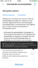 WhatsApp gegevens