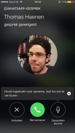 WhatsApp Voicemail gebruiken
