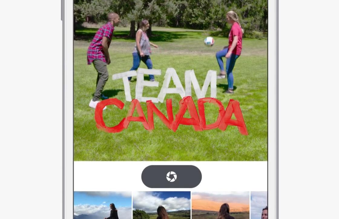Facebook test Snapchat-achtige cameramodus