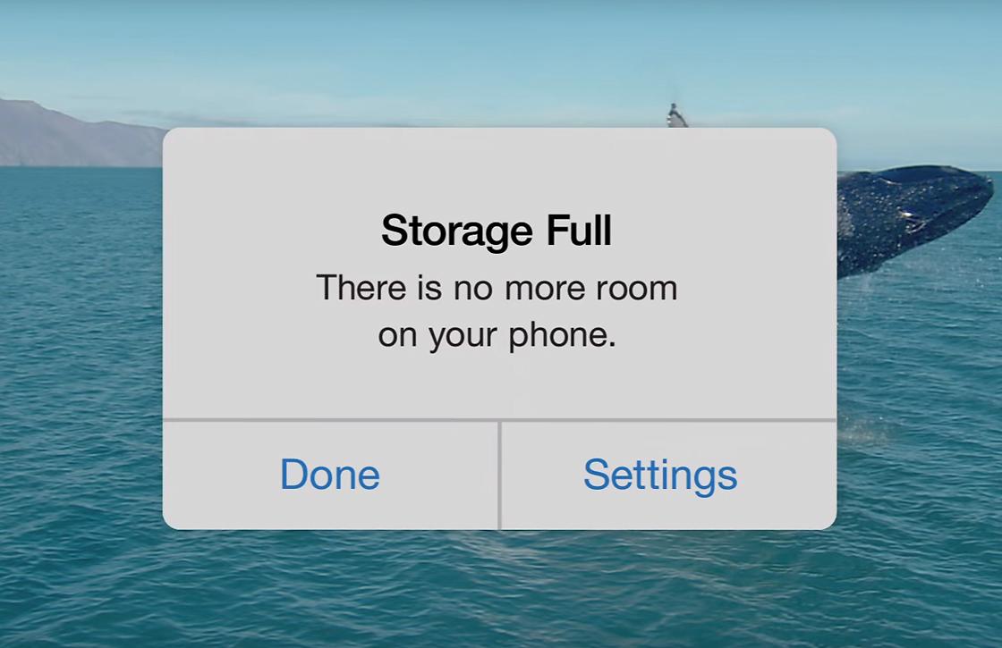 Google Foto's-reclame maakt grap van opslagcapaciteit iPhones