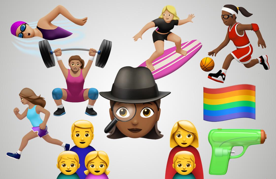 Apple toont nieuwe emoji voor gendergelijkheid in vierde bèta iOS 10