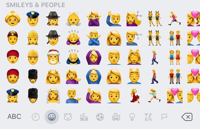 iOS 10 gendergelijkheid