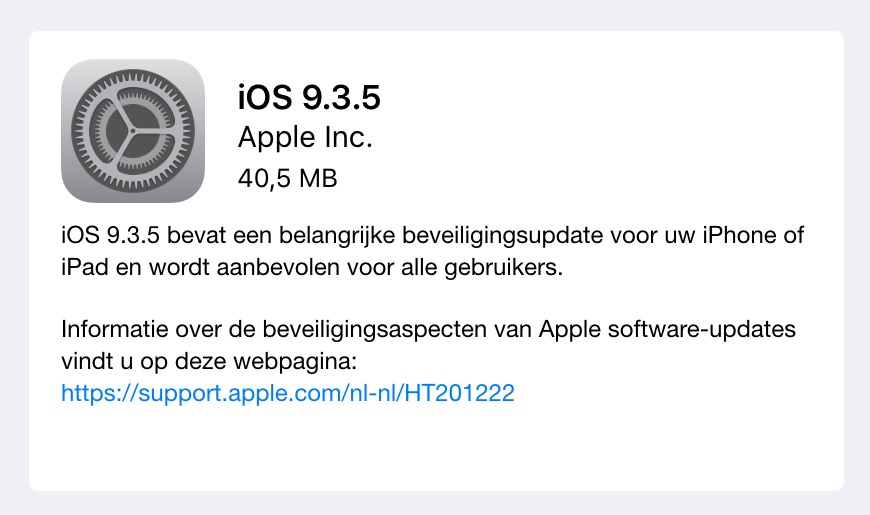 ios 9.3.5 downloaden