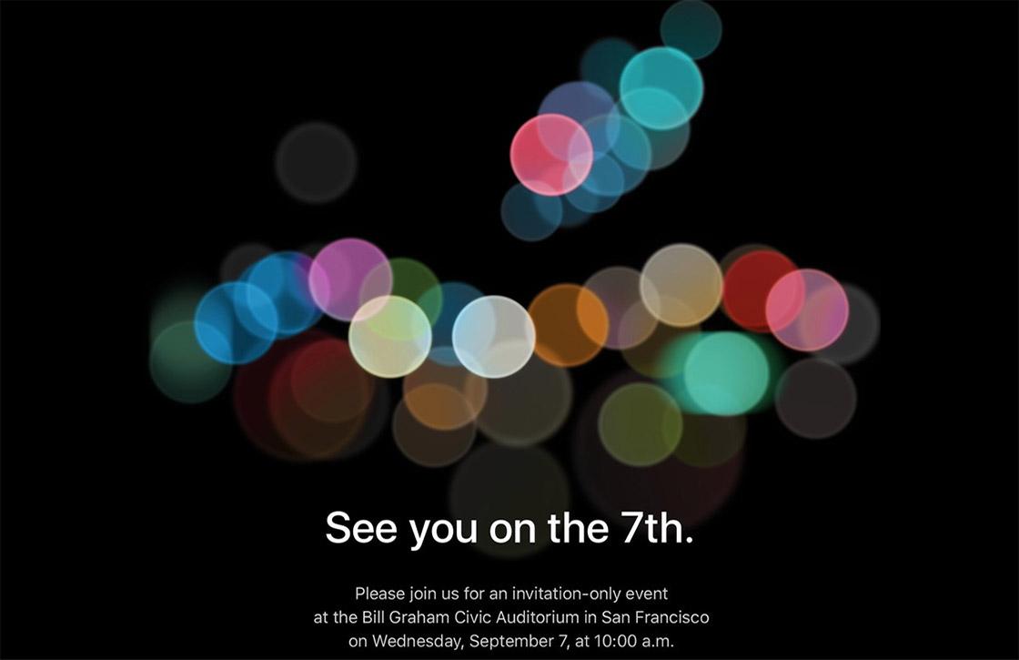 Officieel: Apple onthult iPhone 7 (Plus) op 7 september