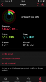 Apple Watch Activiteit delen
