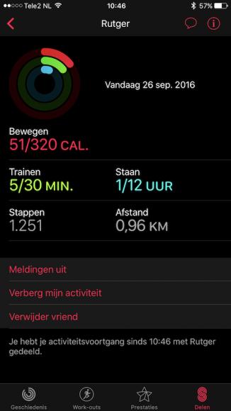 Apple Watch Activiteit delen