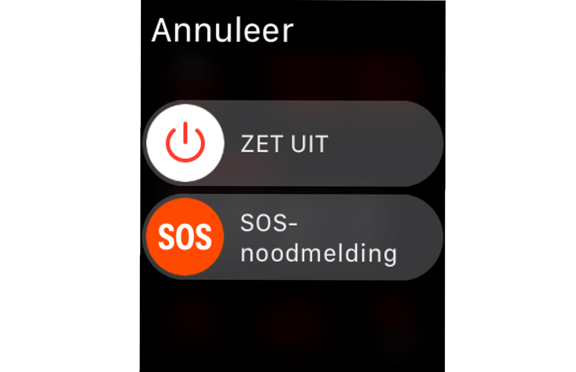 Apple Watch SOS-noodmelding