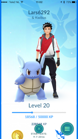 Pokémon GO Buddy kiezen