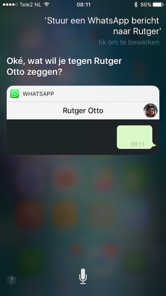 WhatsApp Siri