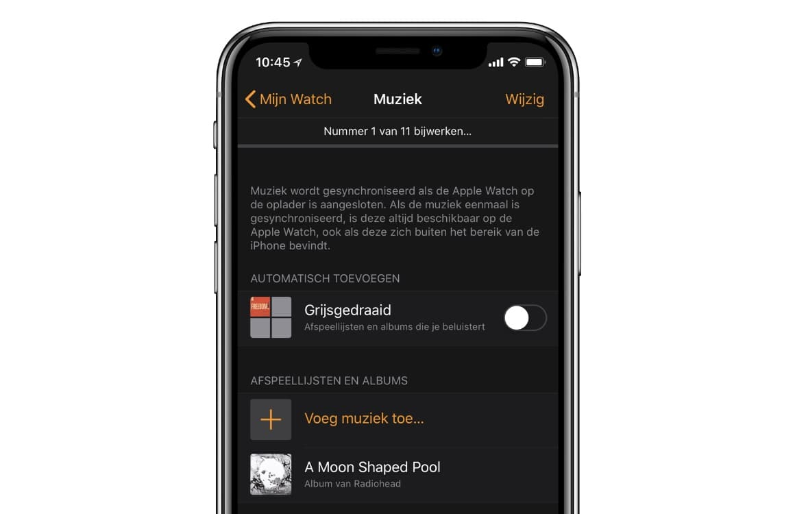 Apple Watch muziek