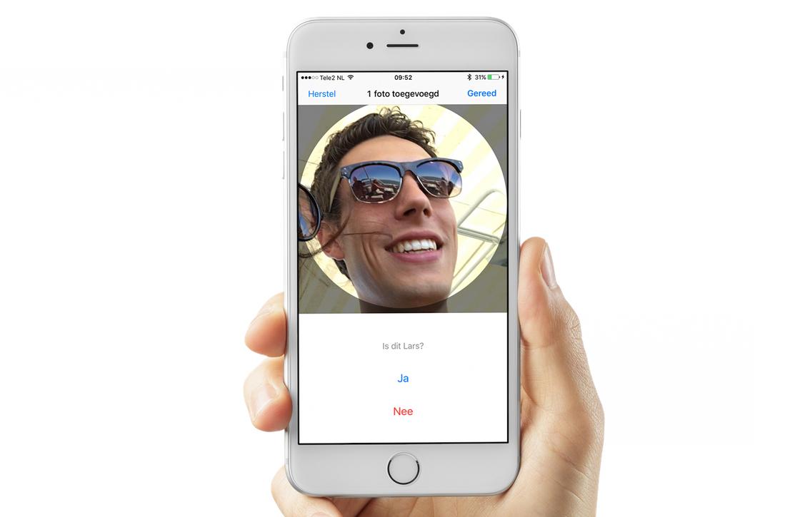 iOS Foto's gezichtsherkenning