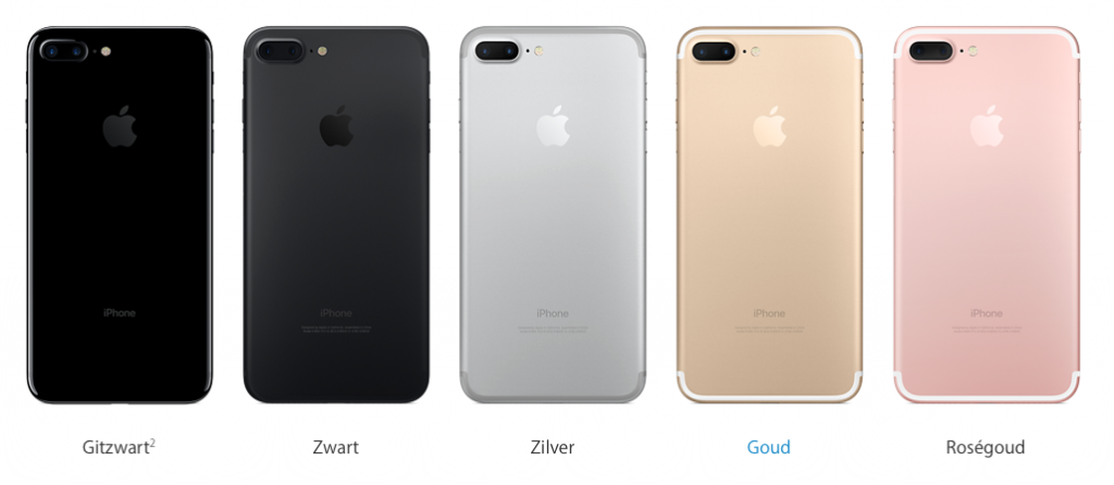 iPhone 7 uitvoeringen