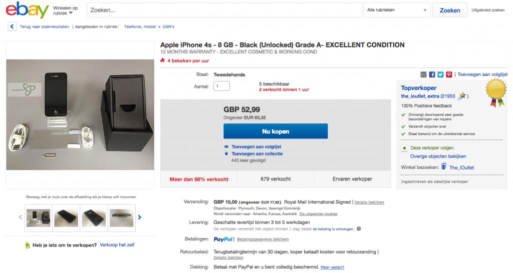 iphone ebay verkopen