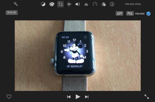 iphone video kantelen imovie