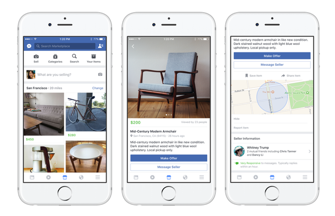Facebook introduceert eigen marktplaats voor tweedehands spullen