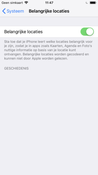 Geparkeerde auto vinden met iPhone screenshots (1)