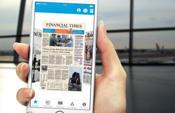 KLM Media-app vervangt kranten in het vliegtuig, later ook films en series