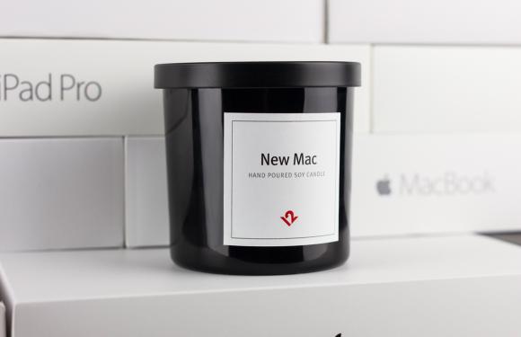 Met deze geurkaars ruikt je huis altijd naar een nieuwe Mac