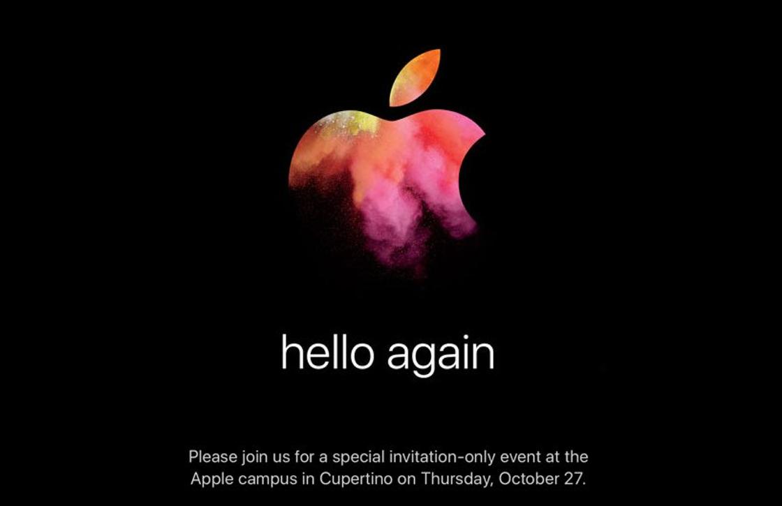 Officieel: Apple onthult op 27 oktober de nieuwe MacBook Pro (en meer)