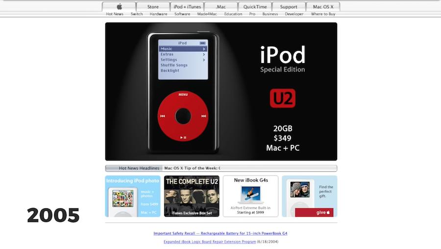 Apple.com timelapse
