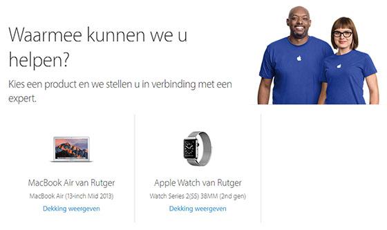 apple support profiel