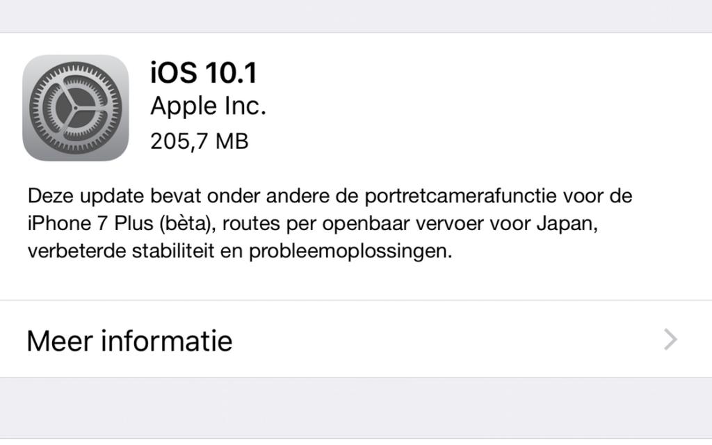 iOS 10.1 downloaden