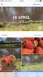 iOS 10 Aandenkens