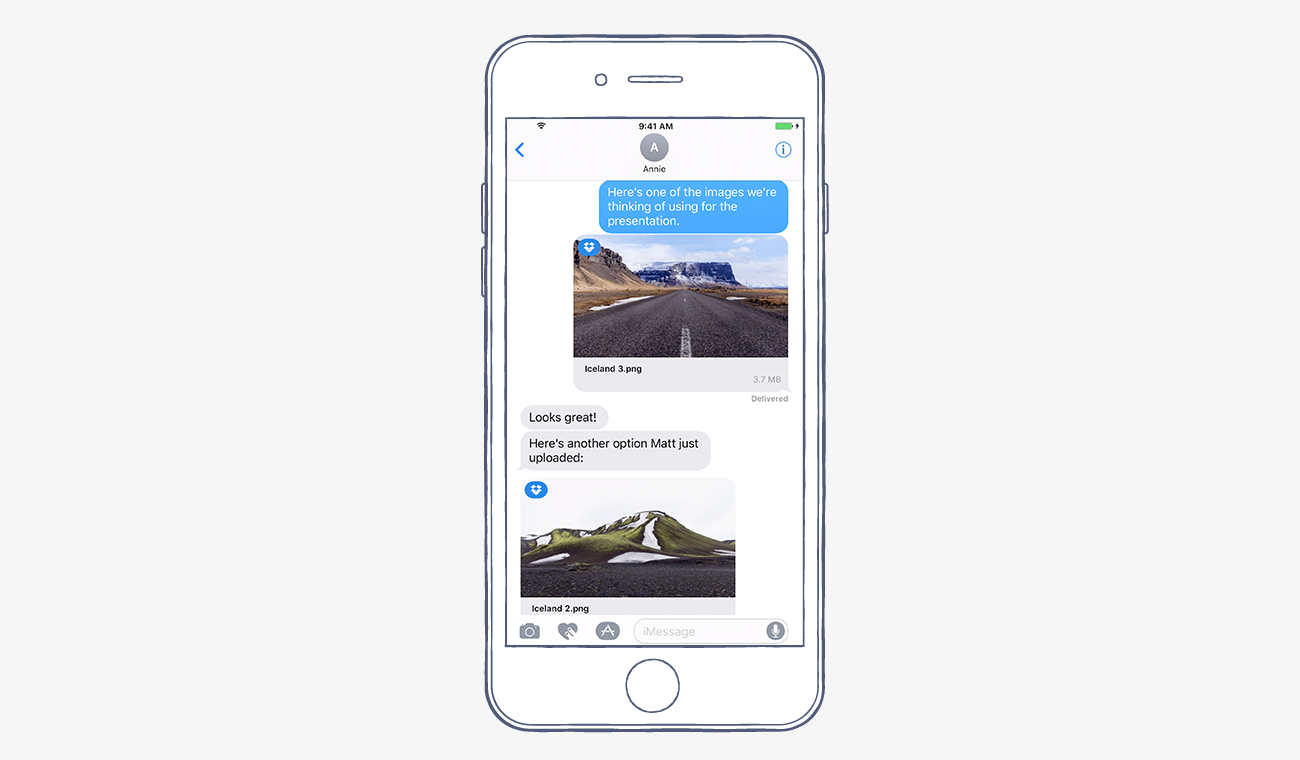 dropbox imessage