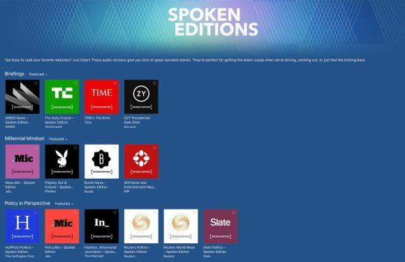 Gesproken artikelen in iTunes en Podcasts vanaf nu live