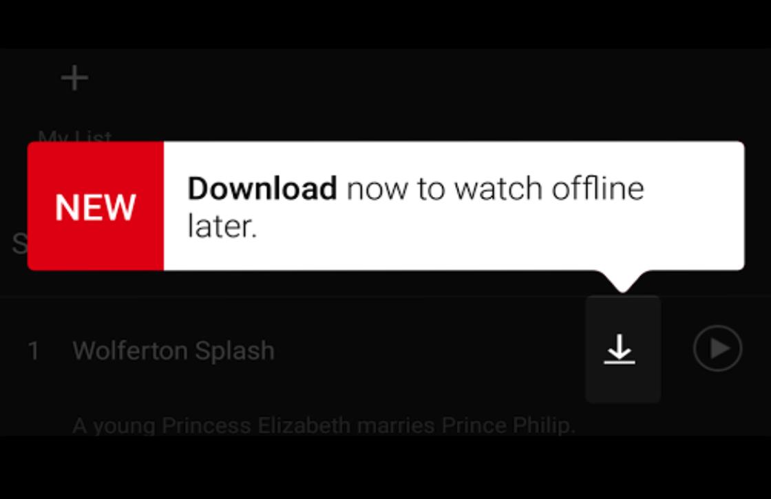 Netflix offline modus