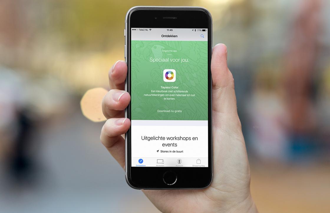 Zo download je Tayasui Color gratis met de Apple Store-app