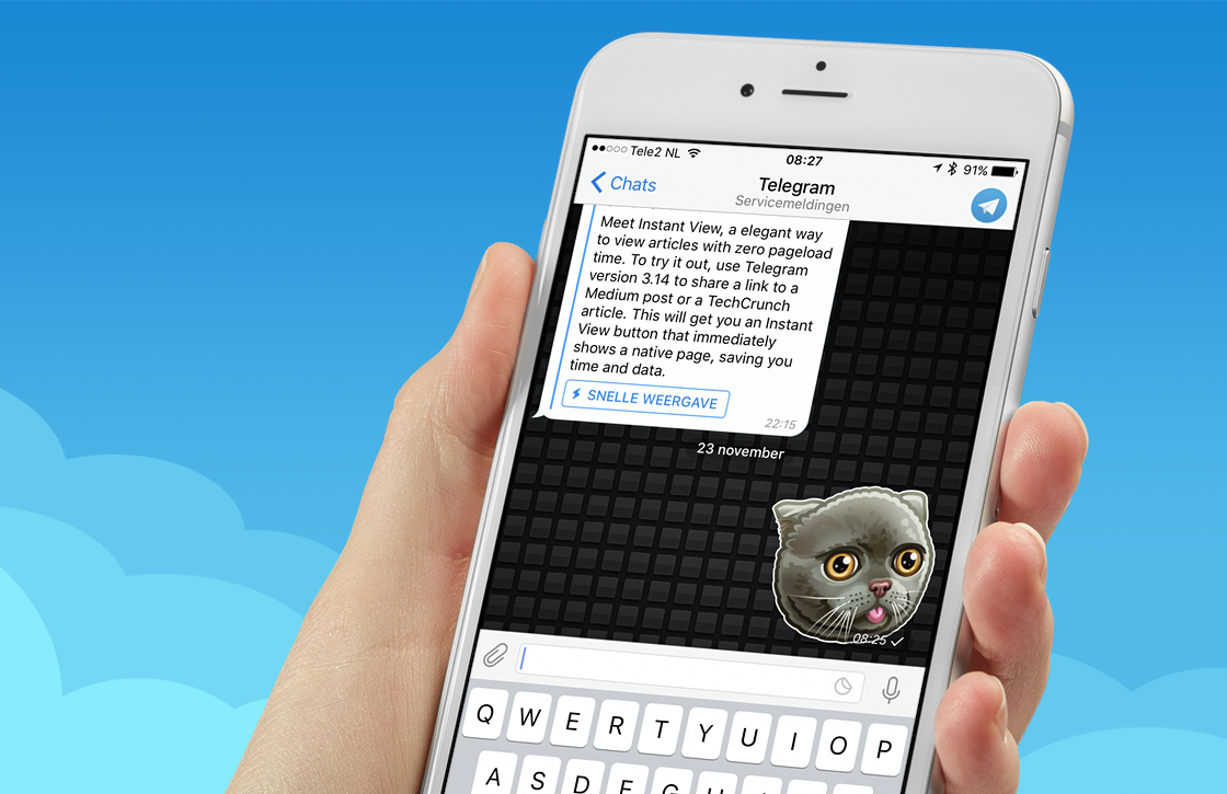 Telegram onderscheidt zich verder van WhatsApp met grote update