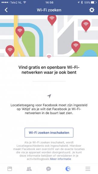 Facebook Wi-Fi zoeken