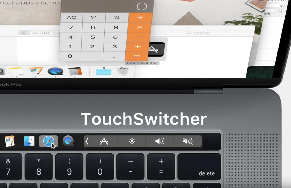 Deze app voor de MacBook Pro Touch Bar laat je snel tussen apps wisselen