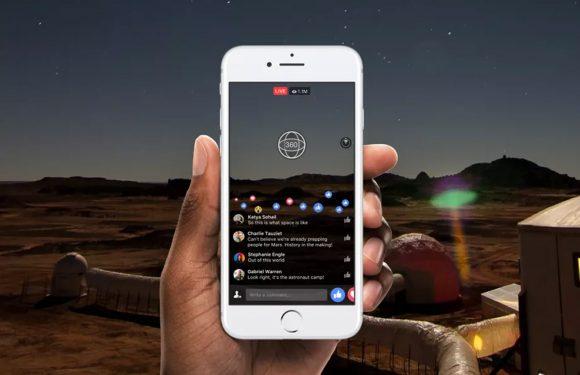 Facebook test livestreams in 360 graden