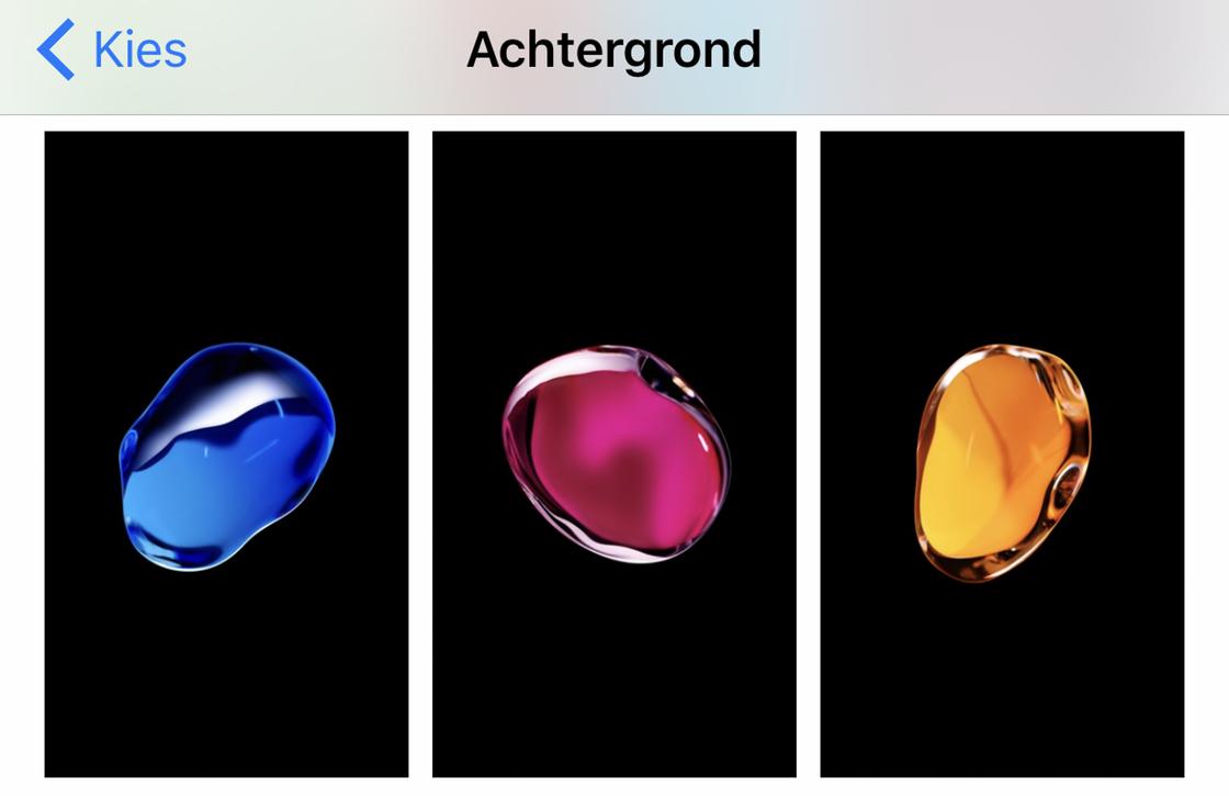 iOS 10.2 achtergronden