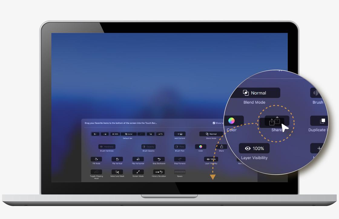 Photoshop krijgt Touch Bar-ondersteuning op MacBook Pro