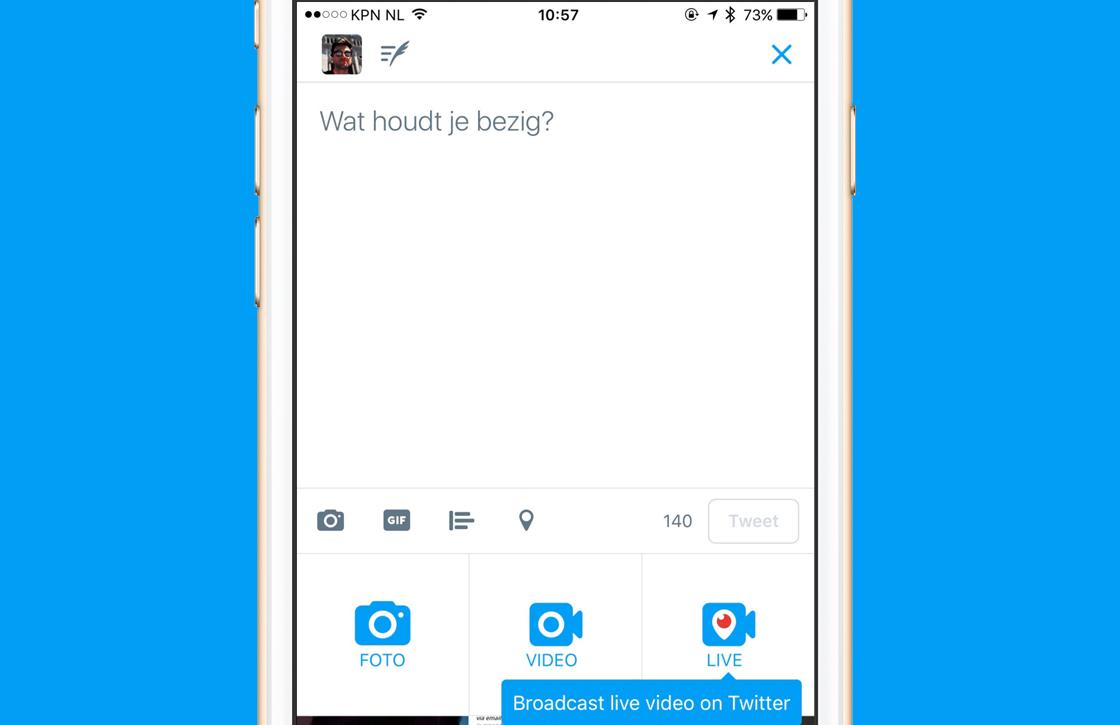 Twitter biedt livestreams direct vanuit eigen app