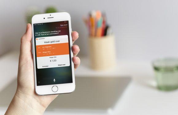 'Hé Siri, maak vijf euro over via de ING Bankieren-app!'