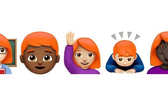 Apple overlegt met Unicode over nieuwe roodharige emoji