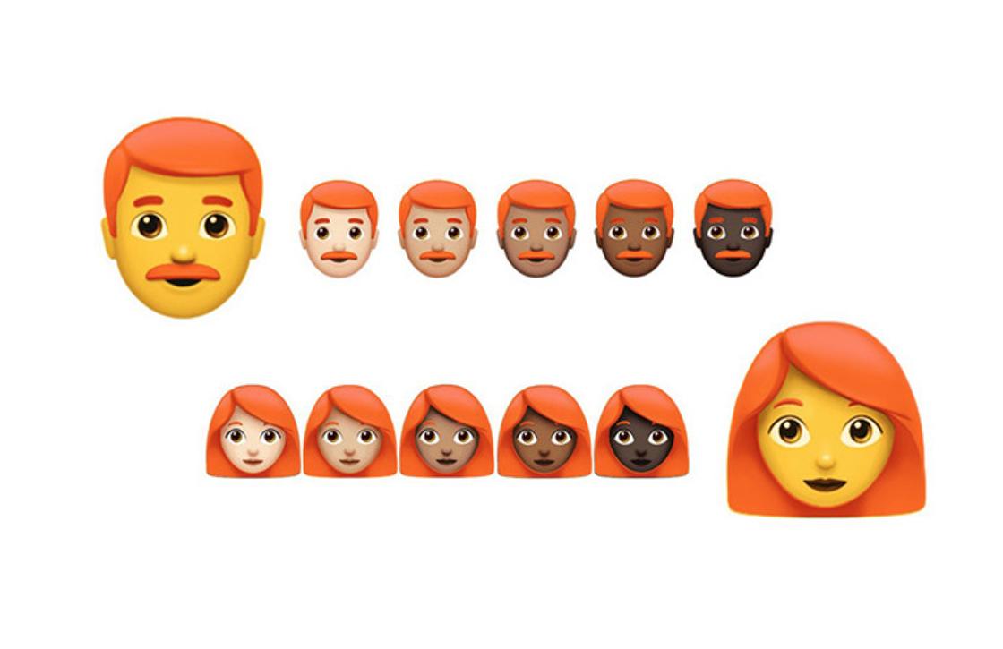 Roodharige emoji