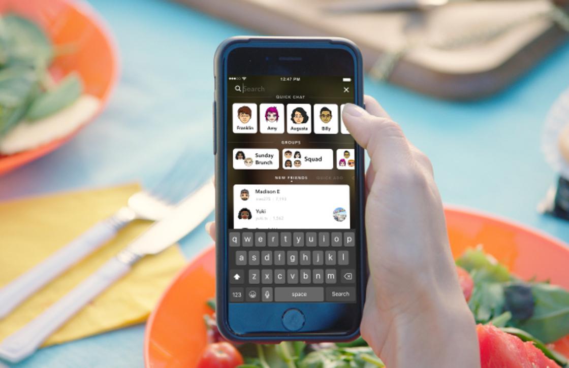 Snapchats vernieuwde zoekfunctie maakt de app sneller dan ooit
